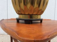 1960s Modern Large Brass Stiffel Lamp Rare | Chairish