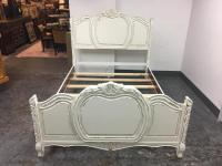 Queen Size Shabby Chic Bed Frame | Chairish