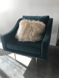 Mid-Century Modern Velvet Accent Chair | Chairish