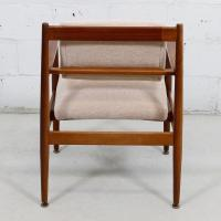 Mid Century Modern Exposed Frame Upholstered Chair | Chairish