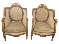 Vintage French Baroque Chairs - A Pair | Chairish
