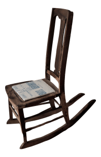 Antique Sewing Nursing Rocking Chair | Chairish