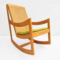 Mid Century Modern Rocking Chair Ralph Rapson Style | Chairish