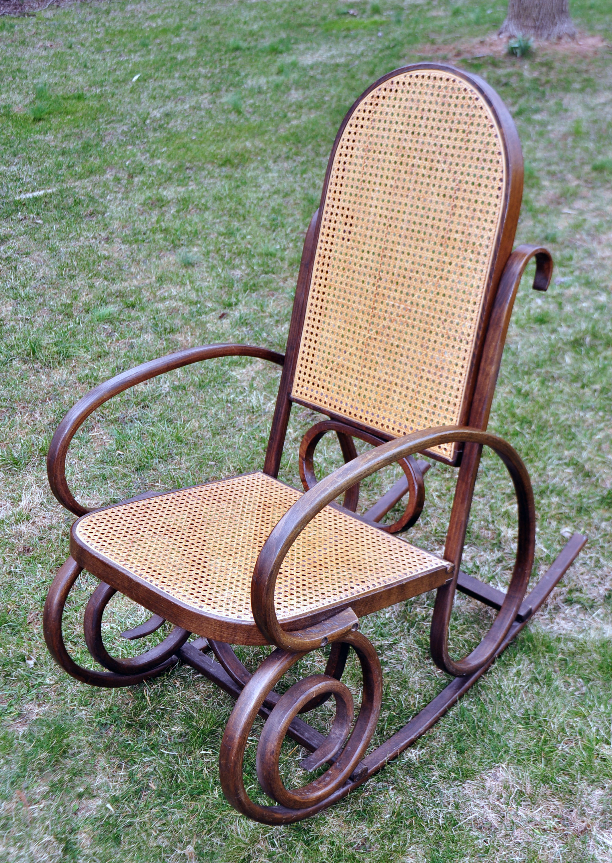 Vintage Thonet Style Bentwood Rocking Chair  Chairish