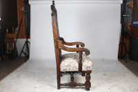 Antique Baroque Chair With Roman Soldier | Chairish