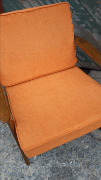 Mid-Century Modern Wood Arm Chair   Chairish