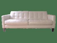Macy's Milan Leather Sofa | Chairish