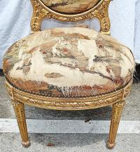 Antique French Gilt Vanity Chair | Chairish