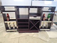 Mirrored Wine Bar Cabinet
