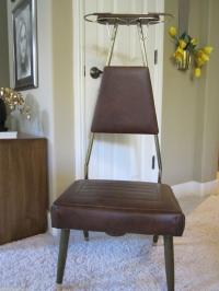 Mid Century Modern Valet Closet/Bedroom Chair | Chairish