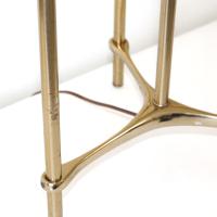 Laurel Mid-Century Modern Tripod Floor Lamp Table | Chairish
