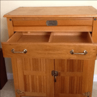 Wooden Kitchen Island on Casters | Chairish