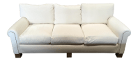 White Velvet & Gilt Sofa | Chairish