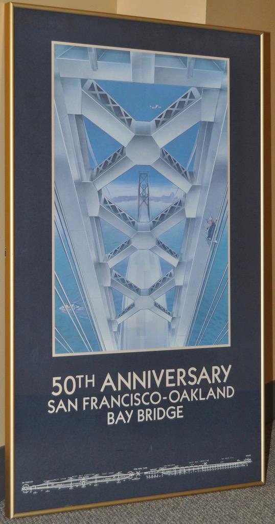 San Francisco Oakland Bay Bridge 50th Anniversary Poster
