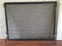 Contemporary Hand-Forged Fireplace Screen | Chairish