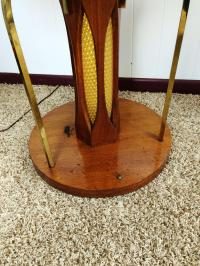 Mid-Century Wood and Glass Coffee & Lighted Side Table 3 ...