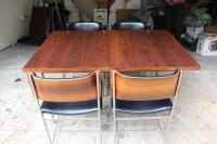 Mid-Century Plywood & Aluminum Dining Set | Chairish