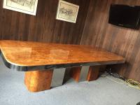 Mid Century Burl Wood Milo Baughman Table | Chairish