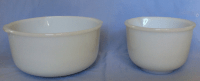 Vintage Sunbeam White Glass Nesting Mixing Bowls | Chairish