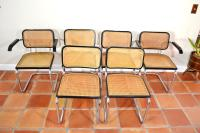 Mid-Century Cane and Chrome Dining Chairs- Set of 6 | Chairish