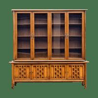 White Furniture Co. Mid Century Modern Hutch   Chairish