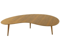 Mid-Century Walnut Boomerang Coffee Table | Chairish