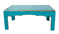 Cool Teal-Painted Coffee Table | Chairish