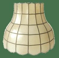 Vintage Capiz Shell Lamp Shade