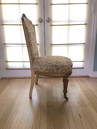 Antique French Carved Gilt Vanity Chair | Chairish