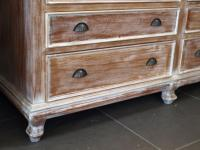 Farmhouse Country Chic Style Linen Press Cabinet | Chairish