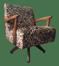 Mid Century 1950s Paisley Velvet Rocking Chair | Chairish