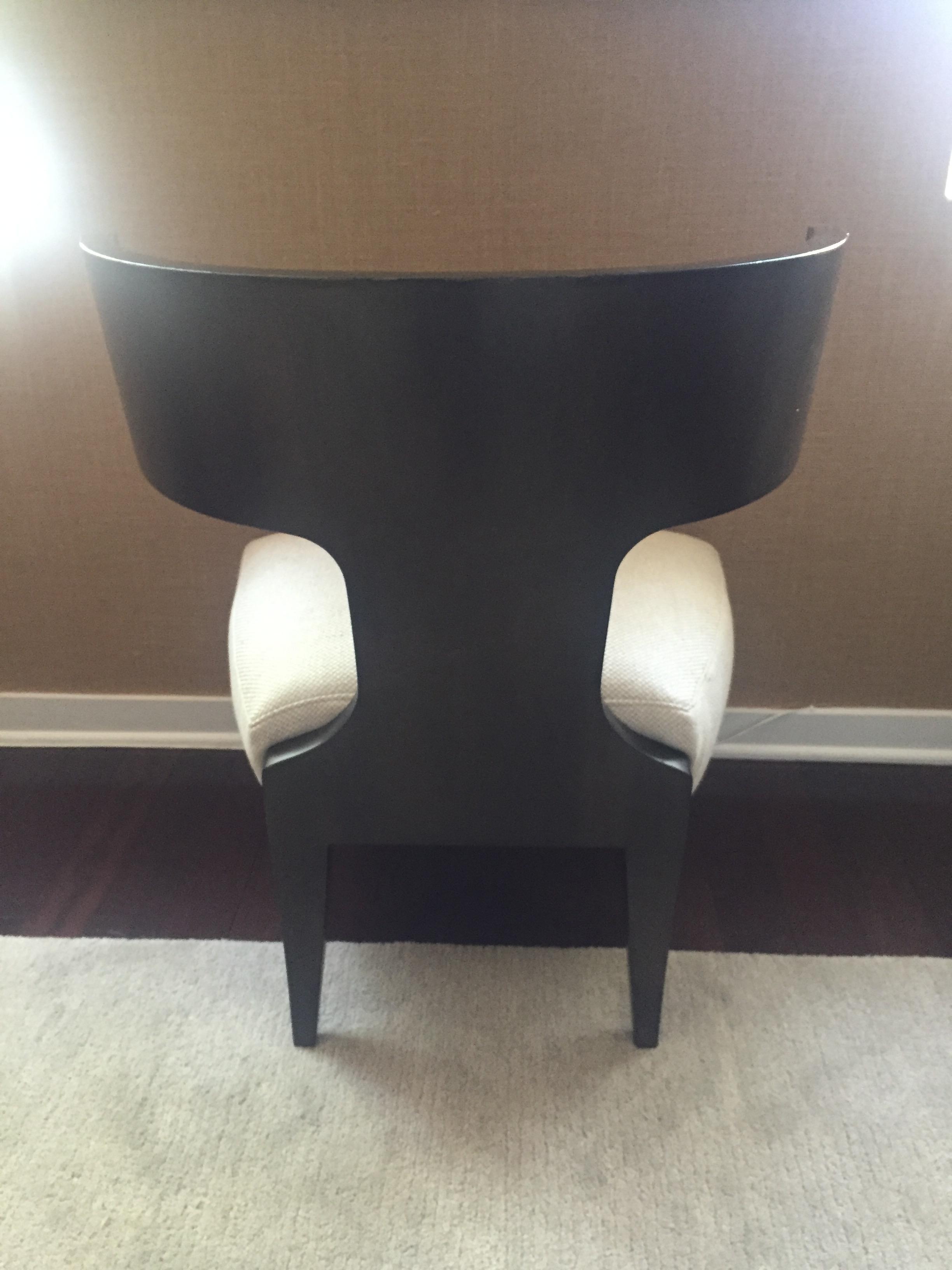Donghia Klismos Chair  Chairish