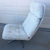 Vintage Overman Style Lounge Chair & Ottoman | Chairish