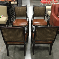 Poker Table Chairs - Set of 4 | Chairish