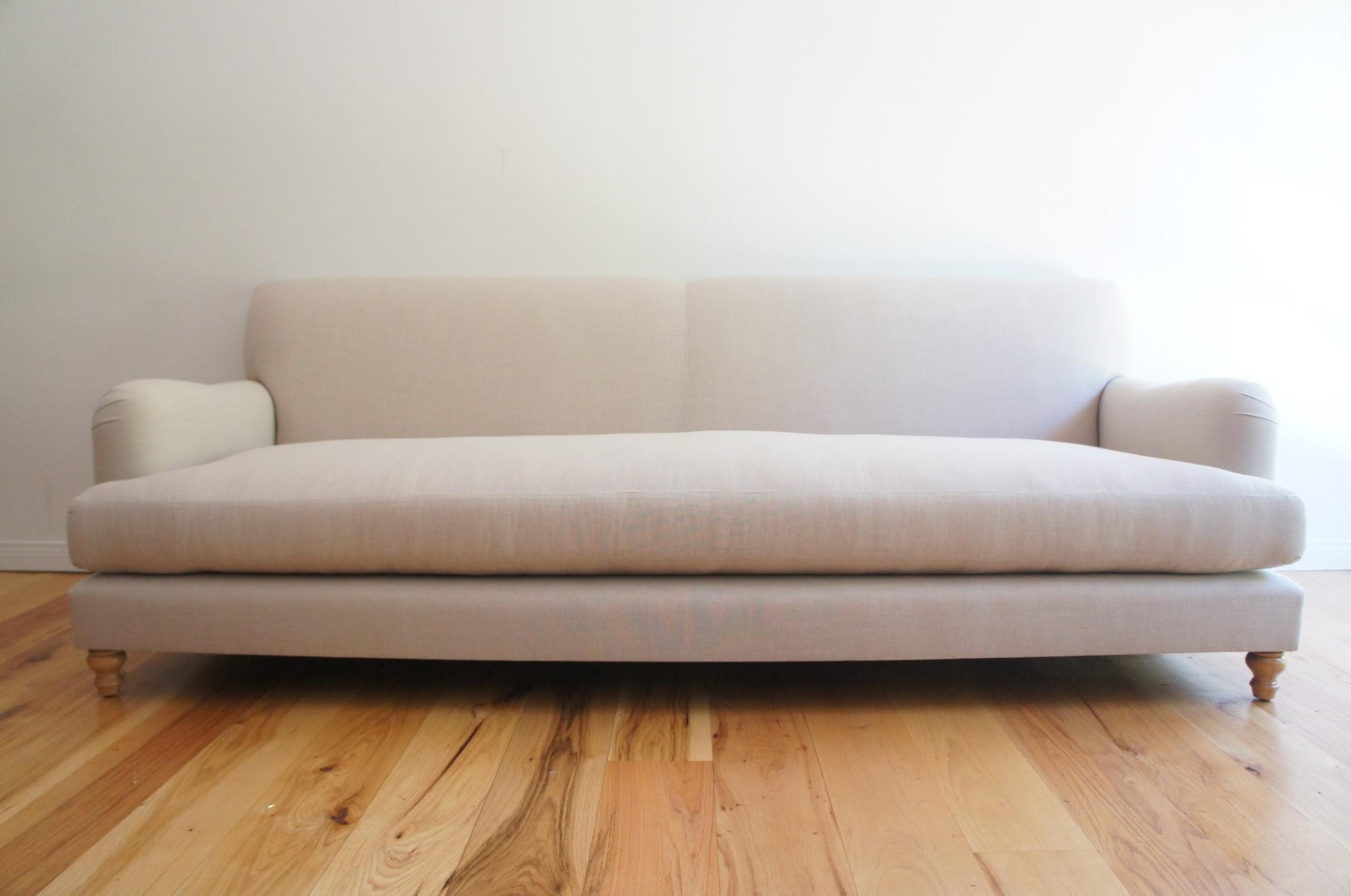 custom sofa maker los angeles patio sofas canada roll arm with modern lines | chairish