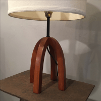 Mid-Century Danish Modern Walnut Table Lamp | Chairish