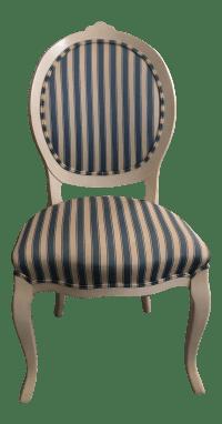 Scandinavian Striped Desk Chair | Chairish