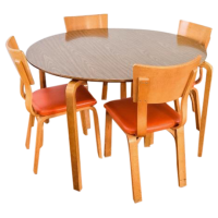 Mid-Century Thonet Bentwood Table & Chairs | Chairish