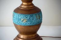 Large Mid Century Modern Brass Table Lamp | Chairish