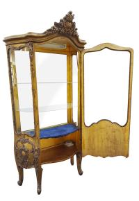 Gilded French Curio Cabinet | Chairish
