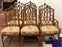 Rare McGuire Gothic Collection Chairs - Set of 8 | Chairish