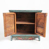 Painted Mongolian Storage Cabinet | Chairish