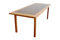 Danish Mid-Century Teak Tile Top Coffee Table | Chairish
