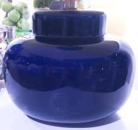 Mid-Century Cobalt Blue Table Lamp | Chairish