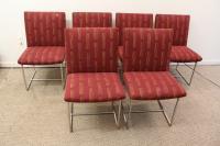 Mid-Century Milo Baughman-Style Chrome Dining Chairs - S/6 ...