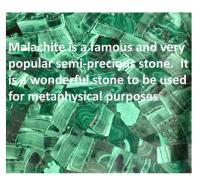 Malachite Stone & Metal Handle Side Table