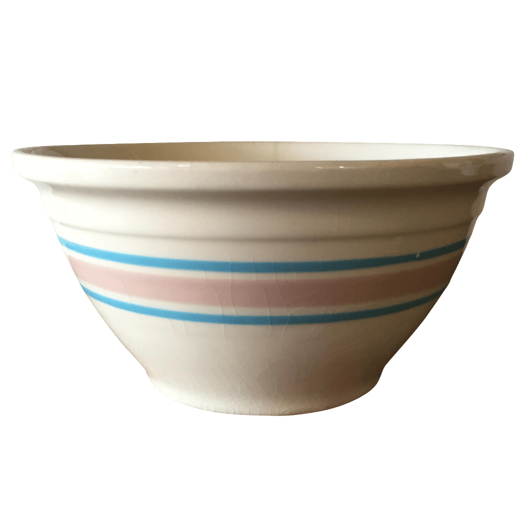 Blue & Pink Striped McCoy Mixing Bowl