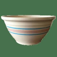 Blue & Pink Striped McCoy Mixing Bowl | Chairish