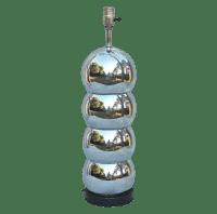 Mid-Century Mod Chrome Orb Table Lamp | Chairish