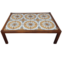 Mid-Century Tile-Top Coffee Table | Chairish